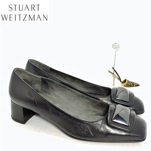 Stuart Weitzman Designer Block Heel Flats Sz 9